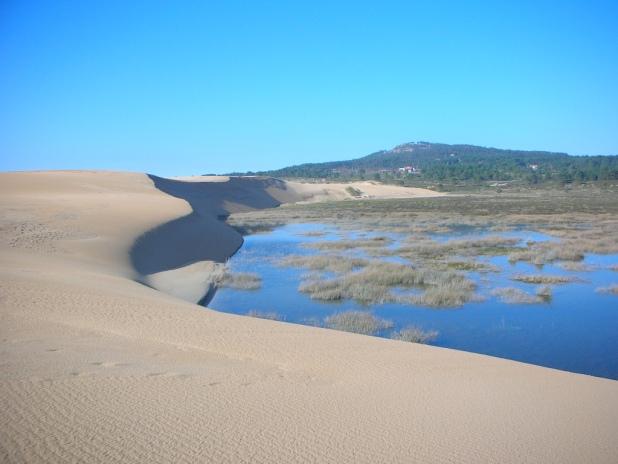 Rutas de senderismo. Las dunas de Corrubedo
