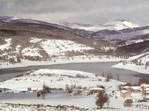 paisaje nevado de Cervera de Pisuerga
